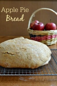 This Apple Pie Bread is an amazing healthy snack! It's perfect for fall and Thanksgiving, and it's a copycat of Great Harvest's version. Recipe from Real Food Real Deals.