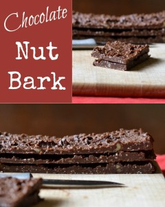 Healthy chocolate nut bark is easy to make.