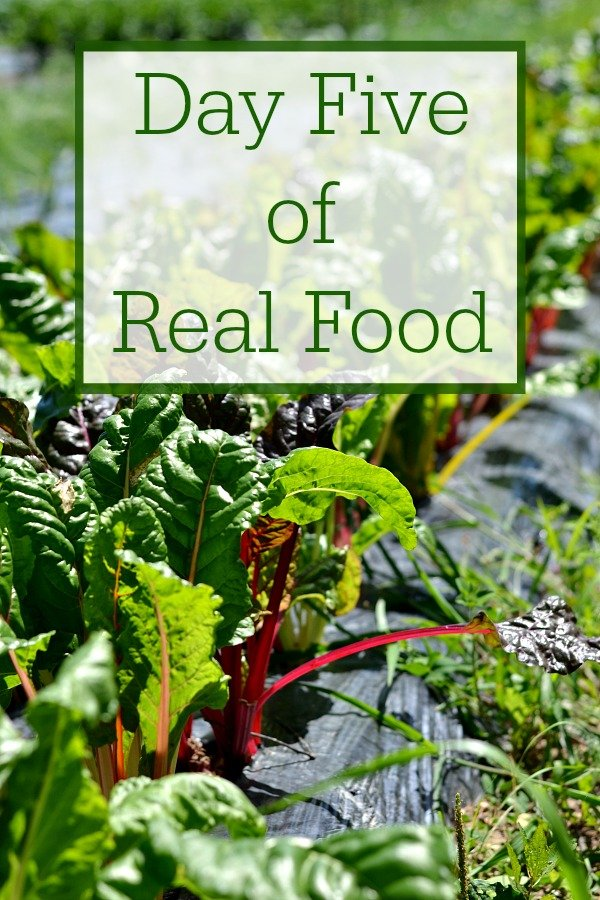Day Five of Real Food includes healthy recipes without processed food. It's such a treat to be able to eat a clean, whole food diet.