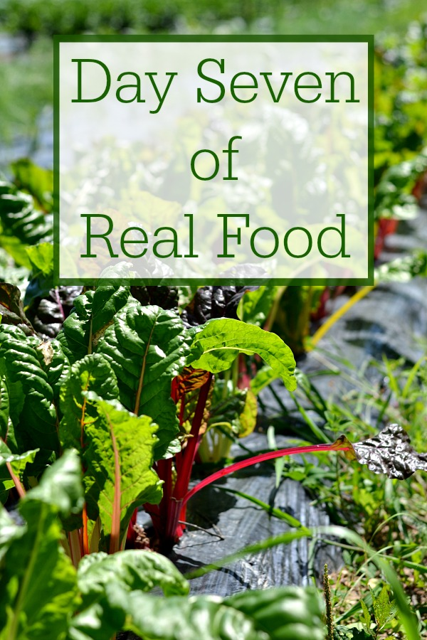 Day Seven of Real Food includes healthy recipes without processed food. It's such a treat to be able to eat a clean, whole food diet.