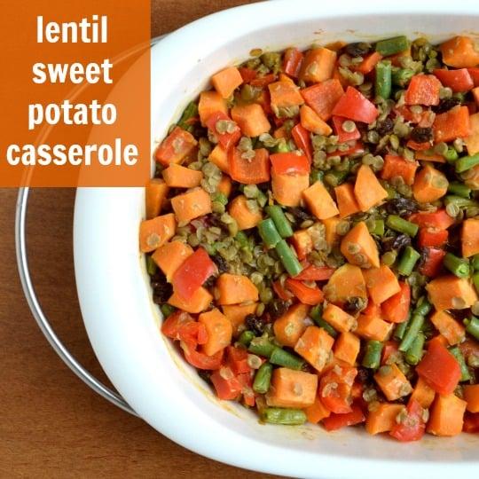 Lentil Sweet Potato Casserole - Real Food Real Deals