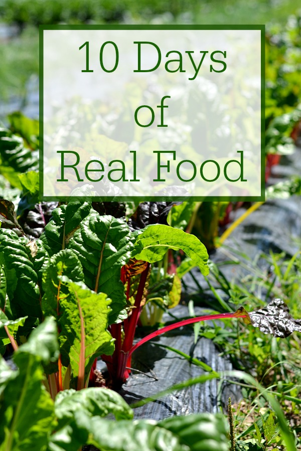 My family embarked on ten days of real food. It was a big challenge to avoid processed food, but we did it!