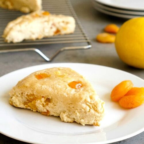 This lemon apricot scone recipe is the best light gluten-free snack!