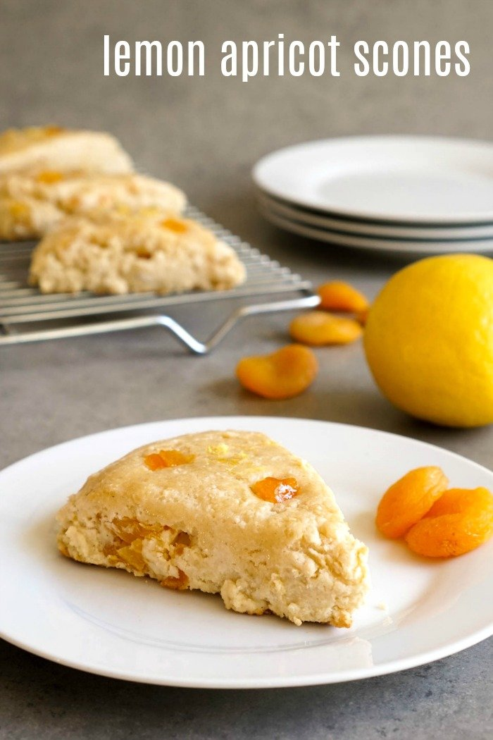 This lemon apricot scones recipe is perfect for afternoon snacktime! It's a light, healthy gluten-free dessert.