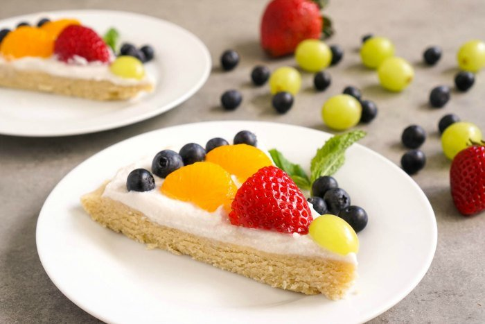 This dairy free fruit pizza is a delicious dessert for summer.
