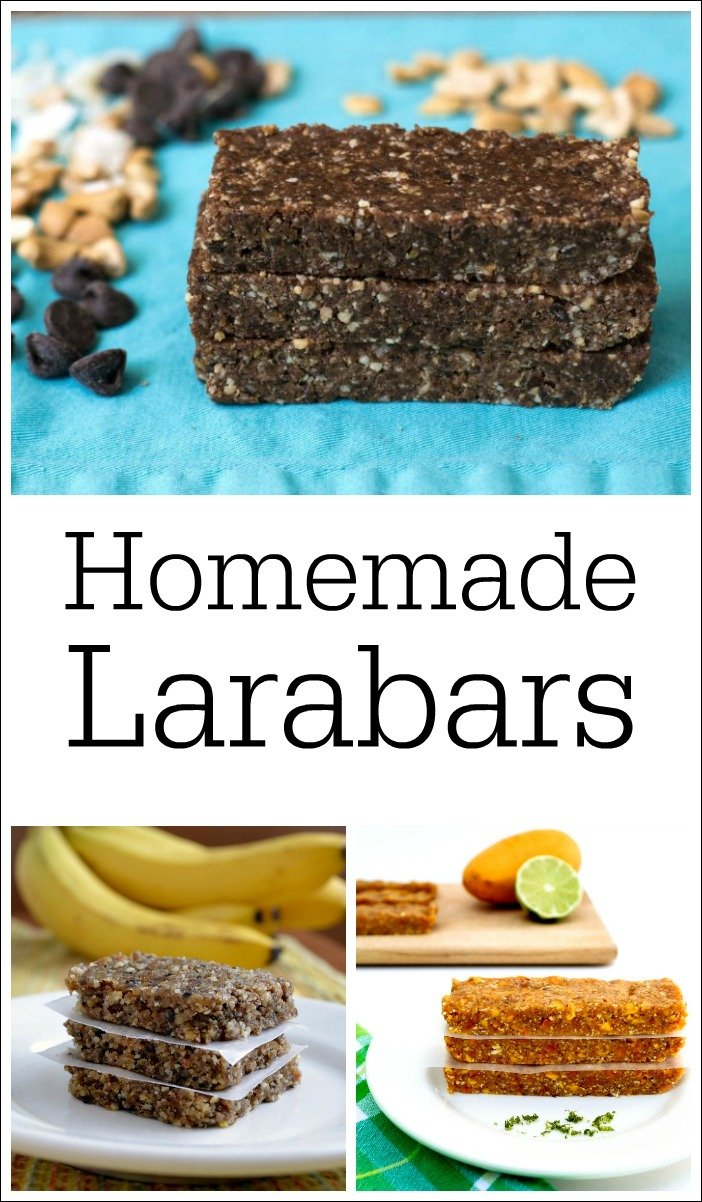 Homemade Larabar Recipes from Real Food Real Deals. Save money by making these healthy snacks yourself!