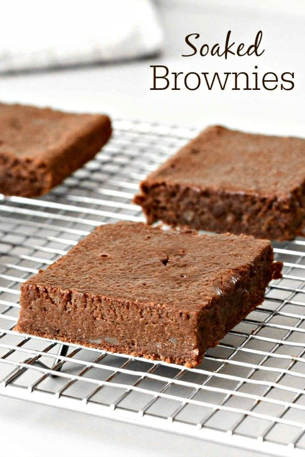 These soaked brownies are a healthy chocolate dessert. This recipe is easier to digest than most because of a couple tricks with the ingredients.