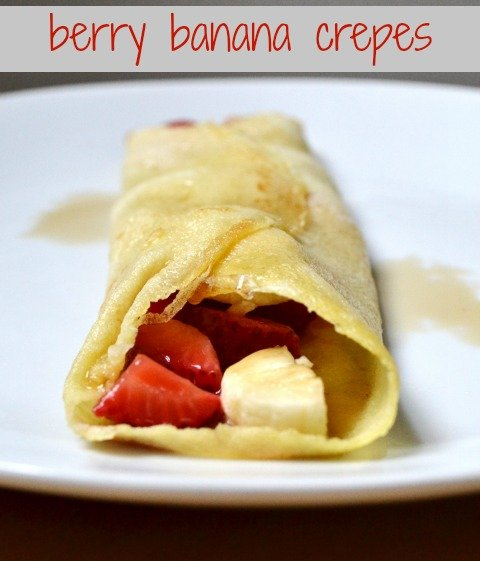 These berry banana crepes are the perfect breakfast for a special occasion! I always request them on holidays. Recipe from Real Food Real Deals.
