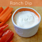 This homemade ranch dressing is so flavorful! It's a healthy, kid-friendly recipe featuring Greek yogurt, and it makes a great dip, too.