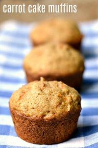 These healthy, delicious carrot cake muffins are a great whole-grain snack for when you're on the go. They're great for breakfast, too.
