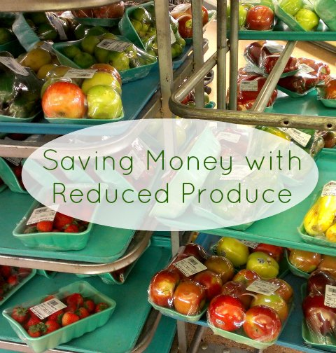 The reduced produce cart is a great place to save money on fresh produce that you can use for cooking and baking. Great for a frugal grocery budget!