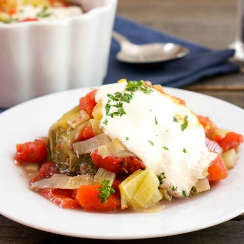 This stuffed cabbage casserole is the ideal comfort food.