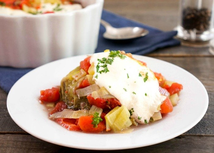 This cabbage casserole is a hearty, delicious meal.