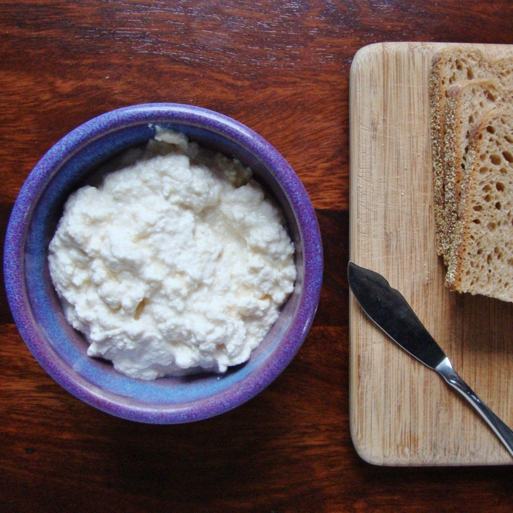 Homemade Ricotta Cheese with Three Easy Ingredients