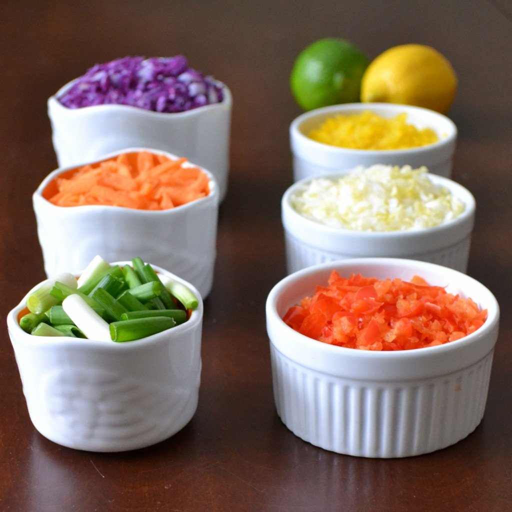 rainbow citrus slaw