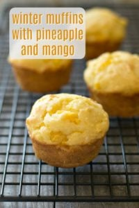 This delicious aloha winter muffin recipe will transport you to the tropics! This is a healthy mango muffin recipe with crushed pineapple and coconut.So delicious!