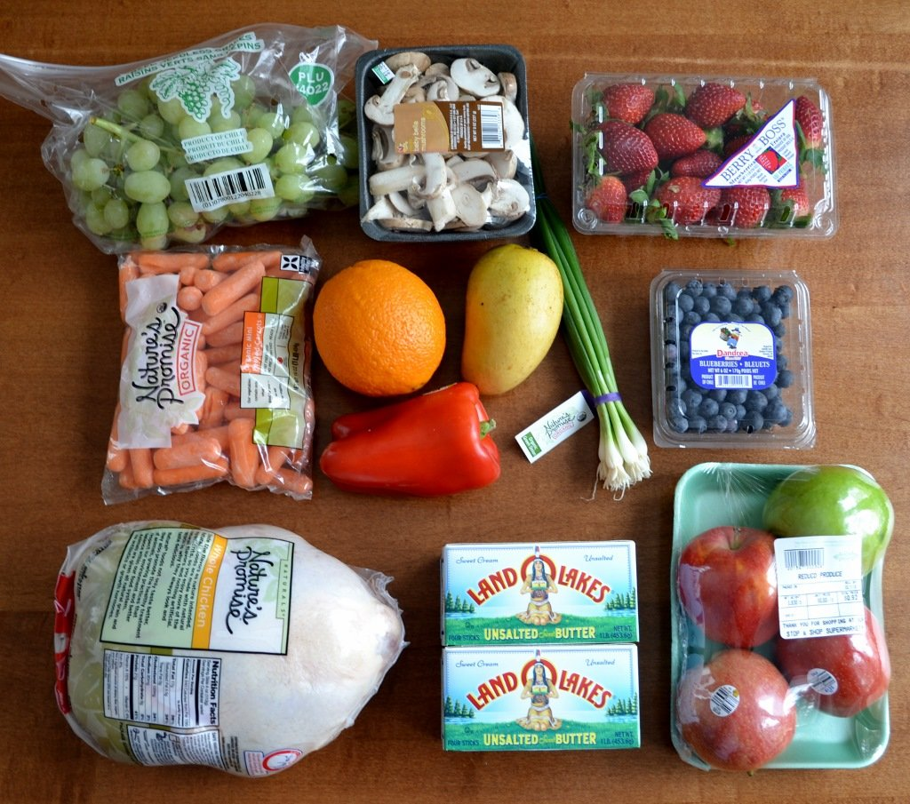 groceries from stop & shop