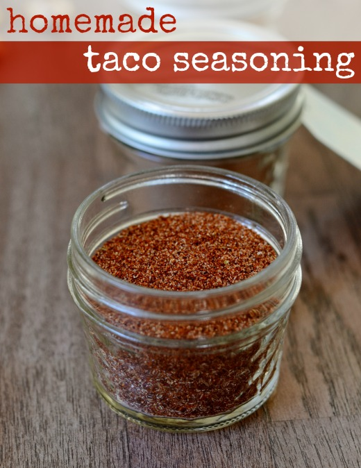 Homemade taco seasoning is an easy condiment to make and it's healthier than the store-bought version. It's the perfect recipe for Taco Night.
