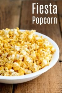 This fiesta popcorn recipe is a delicious, healthy, affordable snack with a Mexican twist. It's perfect for a party because kids and adults will love it.