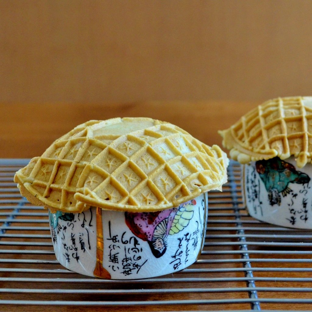 waffle cone bowls being formed