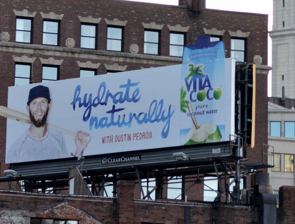 Red Sox hydration billboard