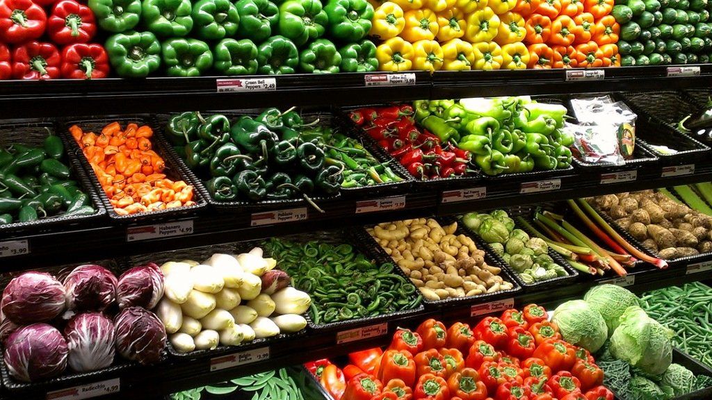 Healthy food at Boston's Whole Foods Market