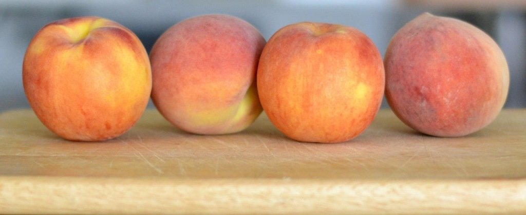 Peach tomato basil salad