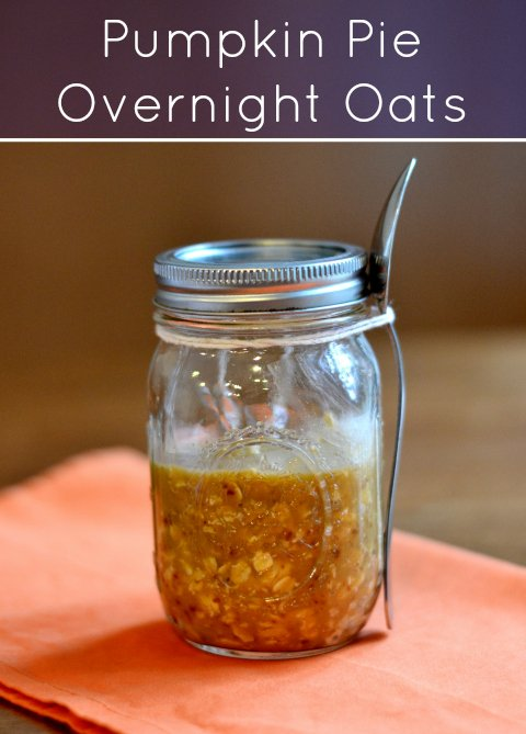 pumpkin pie overnight oats recipe