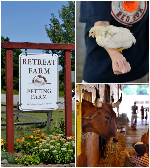 retreat farm collage
