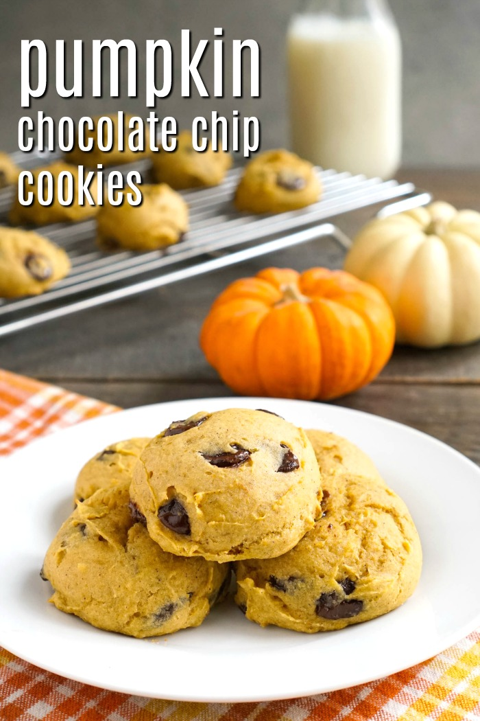 These gluten free pumpkin chocolate chip cookies are a healthy, kid-friendly fall dessert recipe. They're perfect for holiday parties and bake sales!