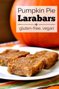 These pumpkin pie Larabars are a healthy, energy-boosting snack that tastes like dessert. Protein bars like this will help you get to the next meal.