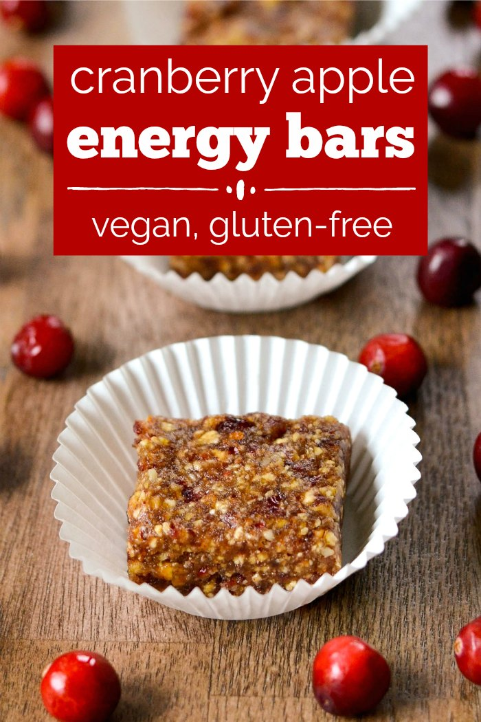 Cranberry apple energy bars are a healthy, high-protein snack that highlights the delicious flavors of fall. Everyone loves these fruity bars!