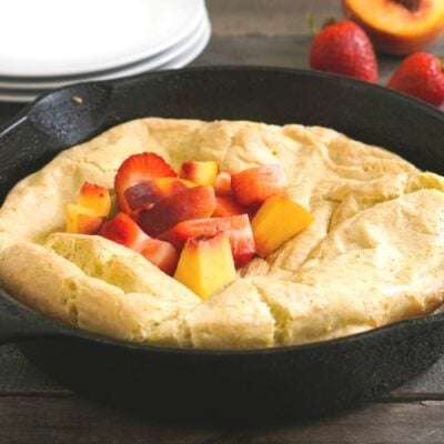 This gluten free Dutch baby is a quick, delicious breakfast!