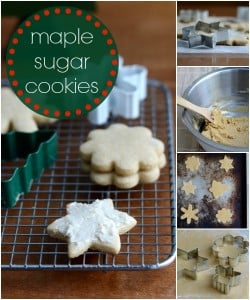 This maple sugar cookie recipe is such a delicious, healthy Christmas dessert!