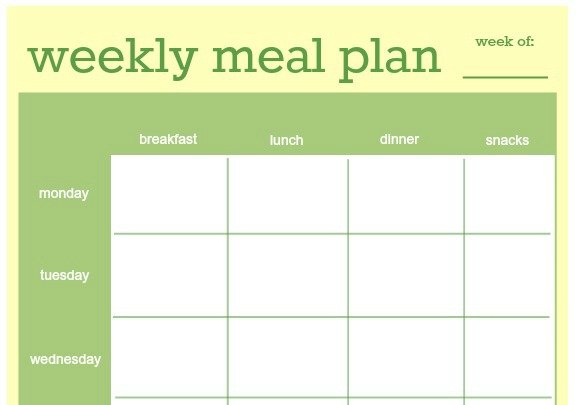 Meal Planner Template – Daily Menu Planner Template