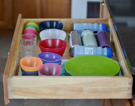 kitchen organization kids drawer