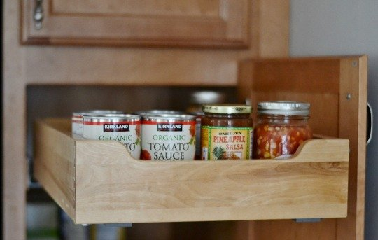 kitchen organization cans