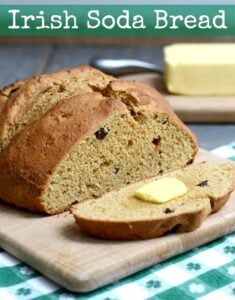 This whole grain Irish Soda Bread is the perfect healthy recipe to enjoy for St. Patrick's Day. It makes a great breakfast or snack.