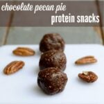 chocolate pecan pie protein snacks