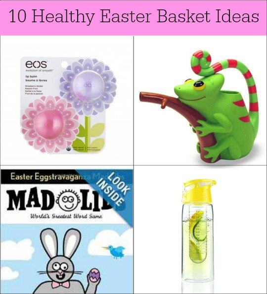 These ten healthy Easter basket ideas are a great substitute for candy. Your kids won't miss it if they get some of these fun treats instead!