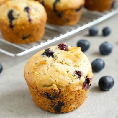 Blueberry chia seed muffins are an easy dairy-free snack.