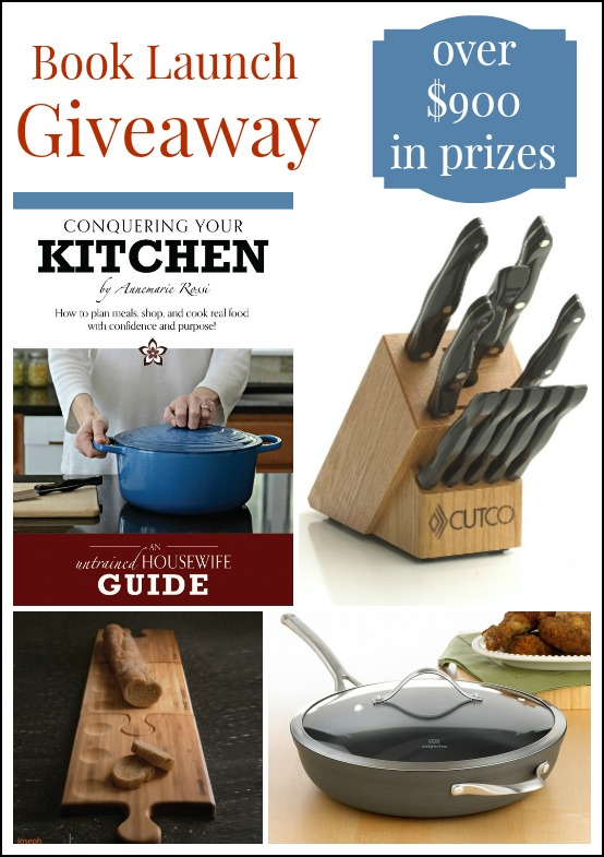 conquering your kitchen book launch giveaway