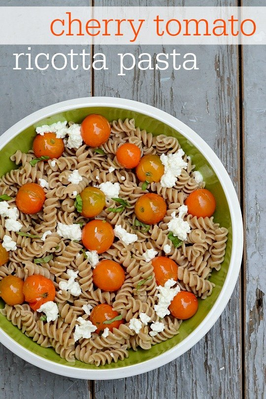 This cherry tomato ricotta pasta tastes like a fancy restaurant meal, but this healthy recipe couldn't be easier to make. So delicious!