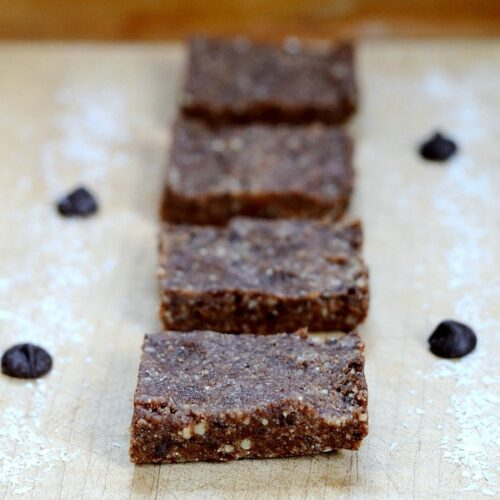 chocolate coconut protein bars