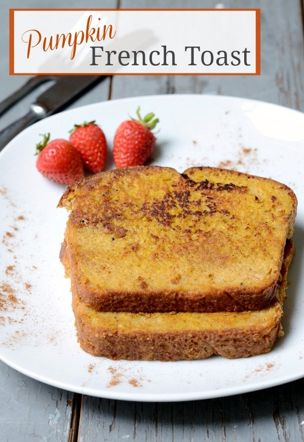 You have to try this pumpkin French toast recipe! It's the perfect fall breakfast.   Real Food Real Deals