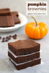 healthy pumpkin brownies, a delicious gluten-free fall dessert recipe