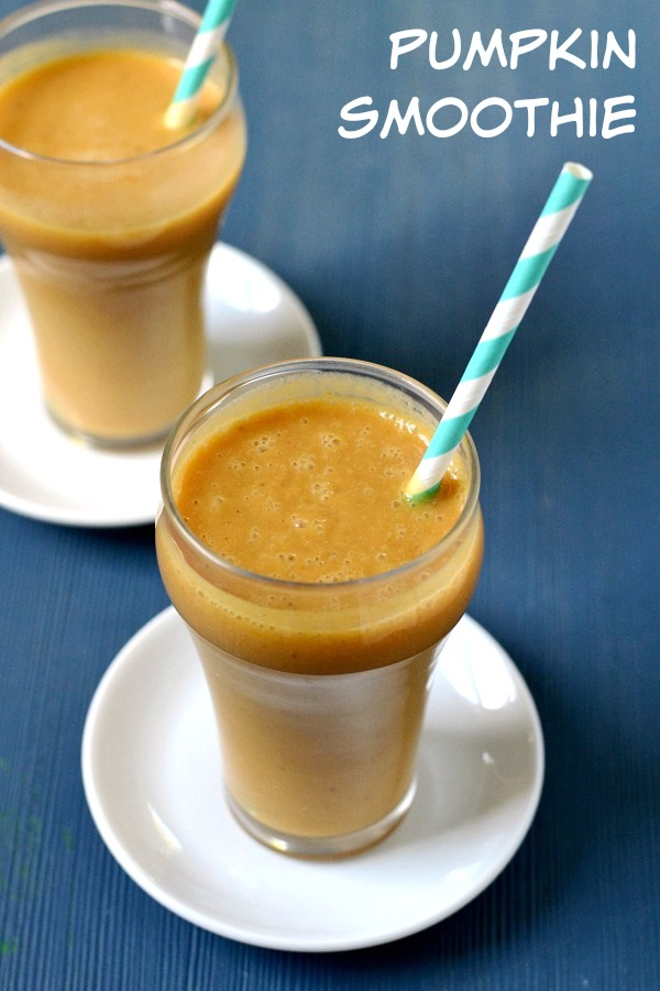 This pumpkin smoothie recipe is the perfect healthy snack for fall. This is a great nourishing drink to give your kids before Halloween trick-or-treating.