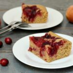 cranberry apple coffee cake on plates