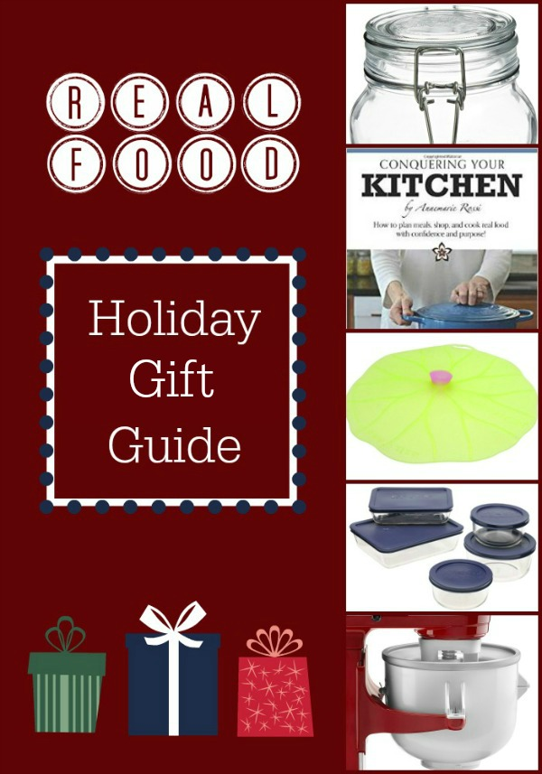 Real Food Holiday Gift Guide: kitchen-themed Christmas gifts for kids and adults   Real Food Real Deals