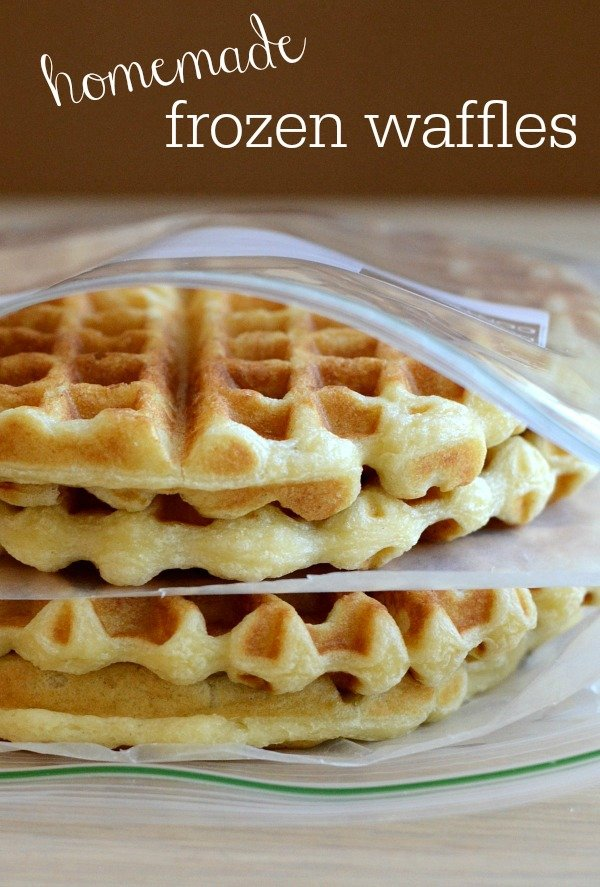 These homemade frozen waffles are so easy to make, and you'll love having them on hand for a quick breakfast. Recipe from Real Food Real Deals.